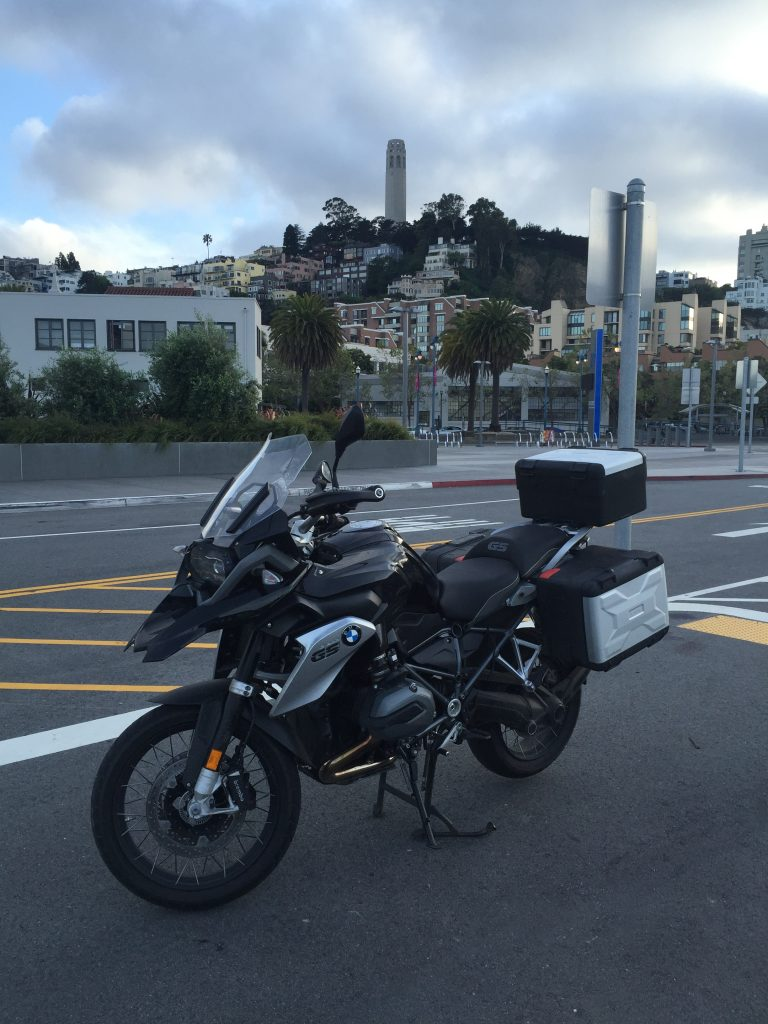 My new GS at Pier 27 with Coit Tower in the background.