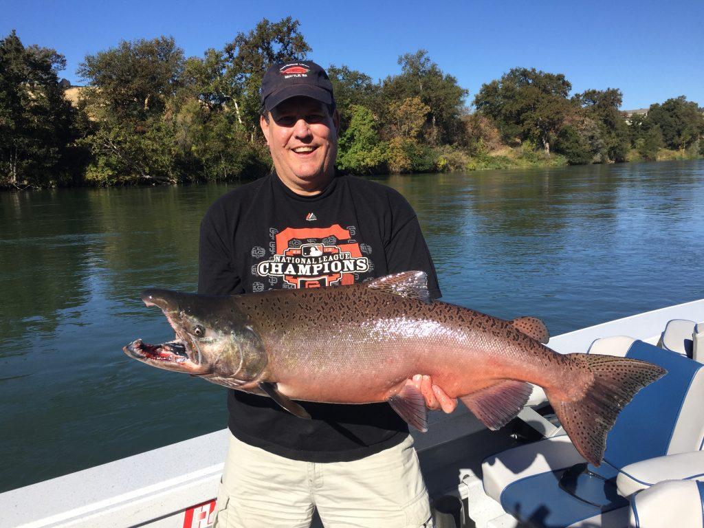 Tim hooks a big Salmon